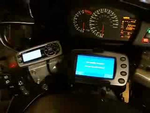 Pyle Marine Radio installed on ST1300 - YouTube