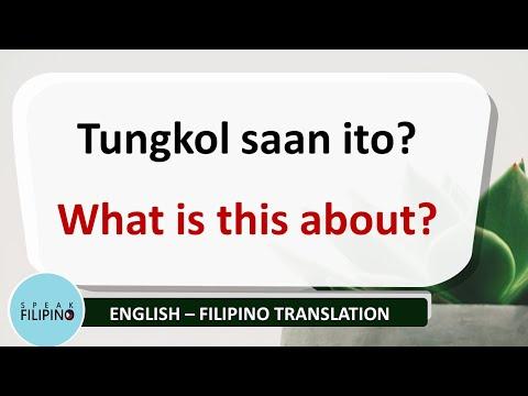 BASIC FILIPINO QUESTIONS #5 (English - Tagalog Translation)
