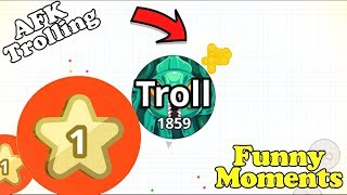 AFK TROLLING + FUNNY MOMENTS// *LEVEL 1 TROLLING* (Agar.io Mobile)