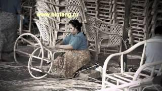 Как делают  мебель из ротанга для нас  в Индонезии