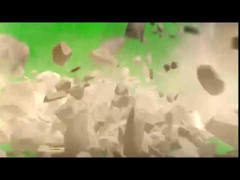 GREEN SCREEN FOOTAGE FALLING ROCKS - DEMOLITION