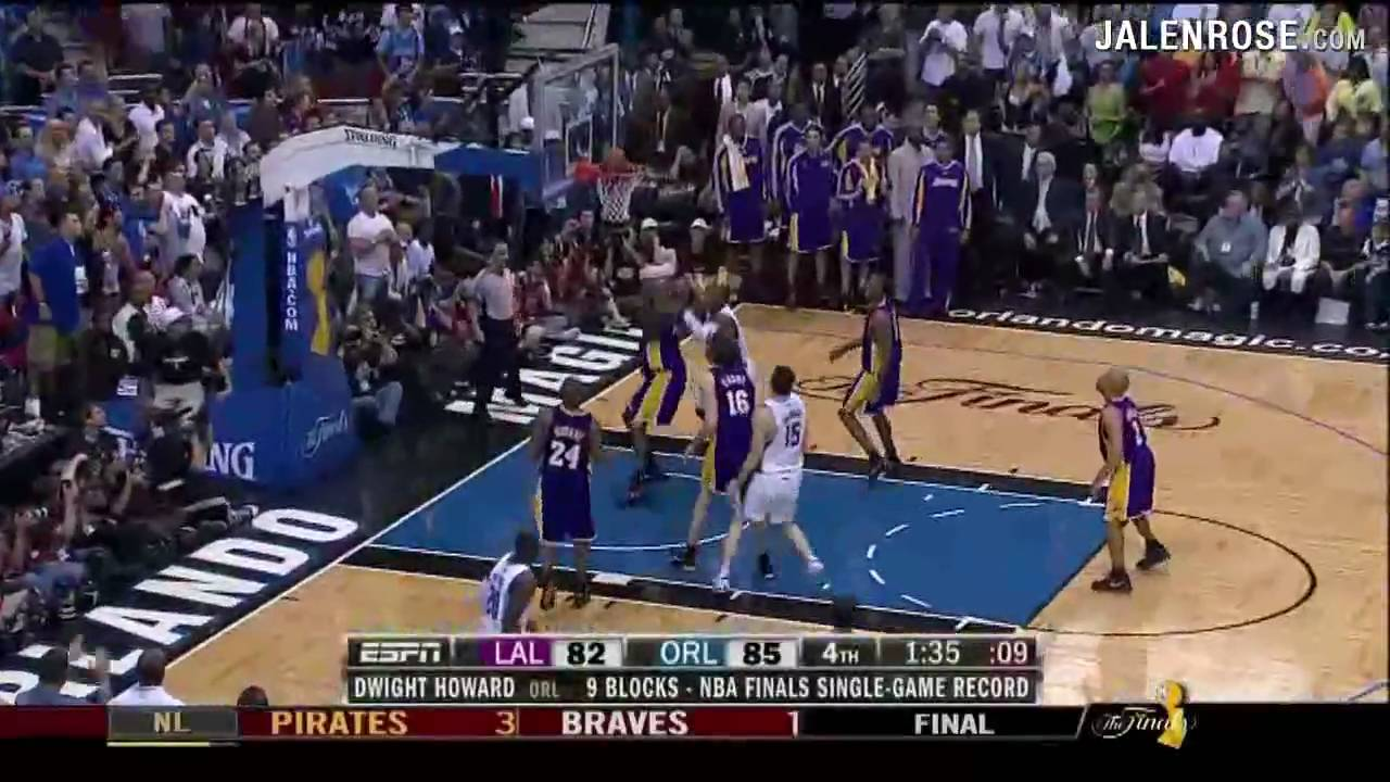 Lakers vs Magic Game 4 Highlights - 2009 NBA Finals - Lakers win 99-91 in OT - Jalen Rose on ...