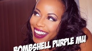 BOMBSHELL PURPLE GLITTER TUTORIAL