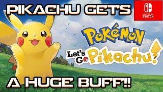 STARTER PIKACHU GETS A BIG STAT BUFF! Pokemon Let's Go Pikachu! Pokemon Let's Go Eevee!