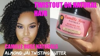Camille Rose Naturals Almond Jai Twisting Butter Tutorial