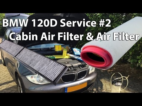 BMW 120D Service #2 Changing the Cabin Air Filter & Air Filter Replacement