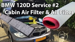 bmw 120d service 2 changing the cabin air filter air filter replacement