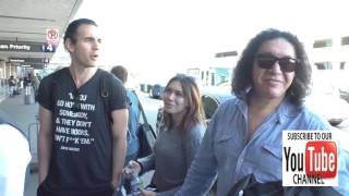 Nick Simmons, Gene Simmons, Shannon Tweed and Sophie Simmons talks about family feuding while depart