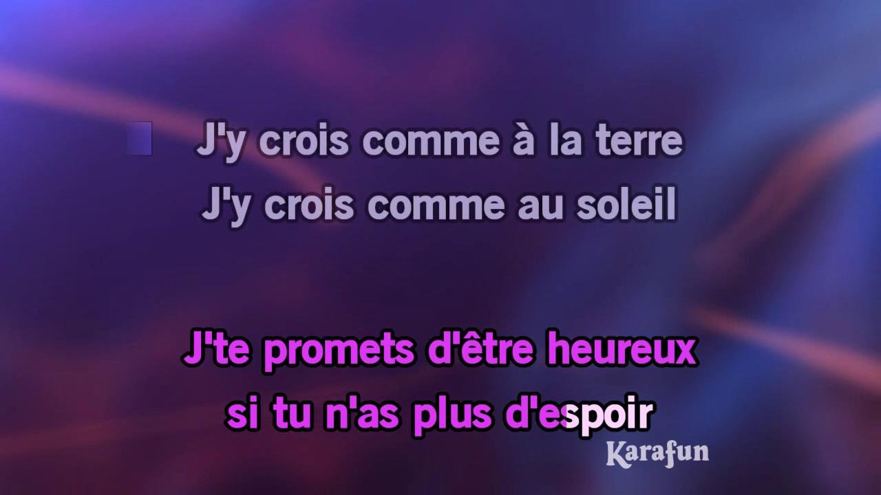 Karaoké Je te promets (Live Born Rocker Tour) - Johnny Hallyday *