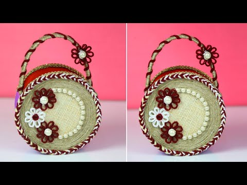 Jute Basket Making | Handcraft Jute Basket For Home Decor | Jute Craft Ideas