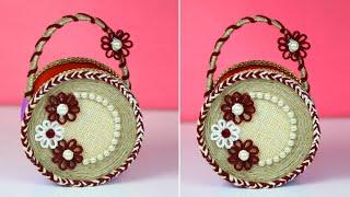 jute basket making | Handcraft Jute Basket for Home Decor | Jute craft ideas