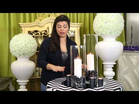 How to Decorate With Square Mirrors & Hurricane Lamps for a Wedding Reception : Wedding Decor