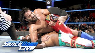 Xavier Woods vs. Jinder Mahal - U.S. Title Tournament Semifinal: SmackDown LIVE, Jan. 16, 2018