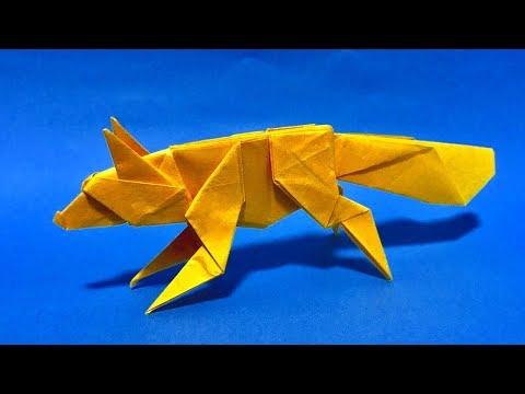 【折り紙】 キツネ 【折り方】