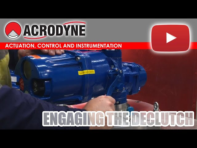 How to engage the Declutch on a Limitorque MX Electric actuator