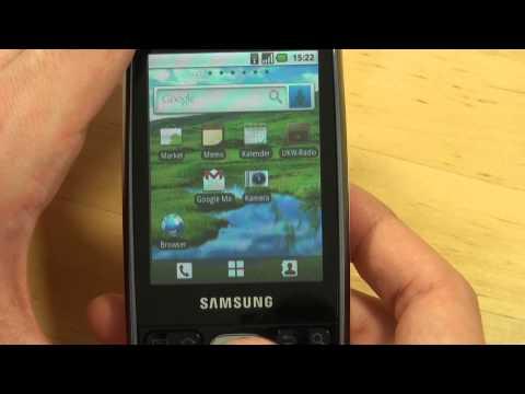 Samsung I5500 Galaxy 5 Test Bedienung