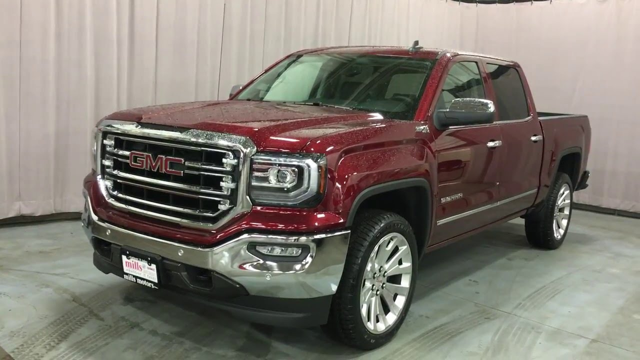 2016 gmc sierra 1500 z71 slt crew cab 4wd red mills motors. Black Bedroom Furniture Sets. Home Design Ideas