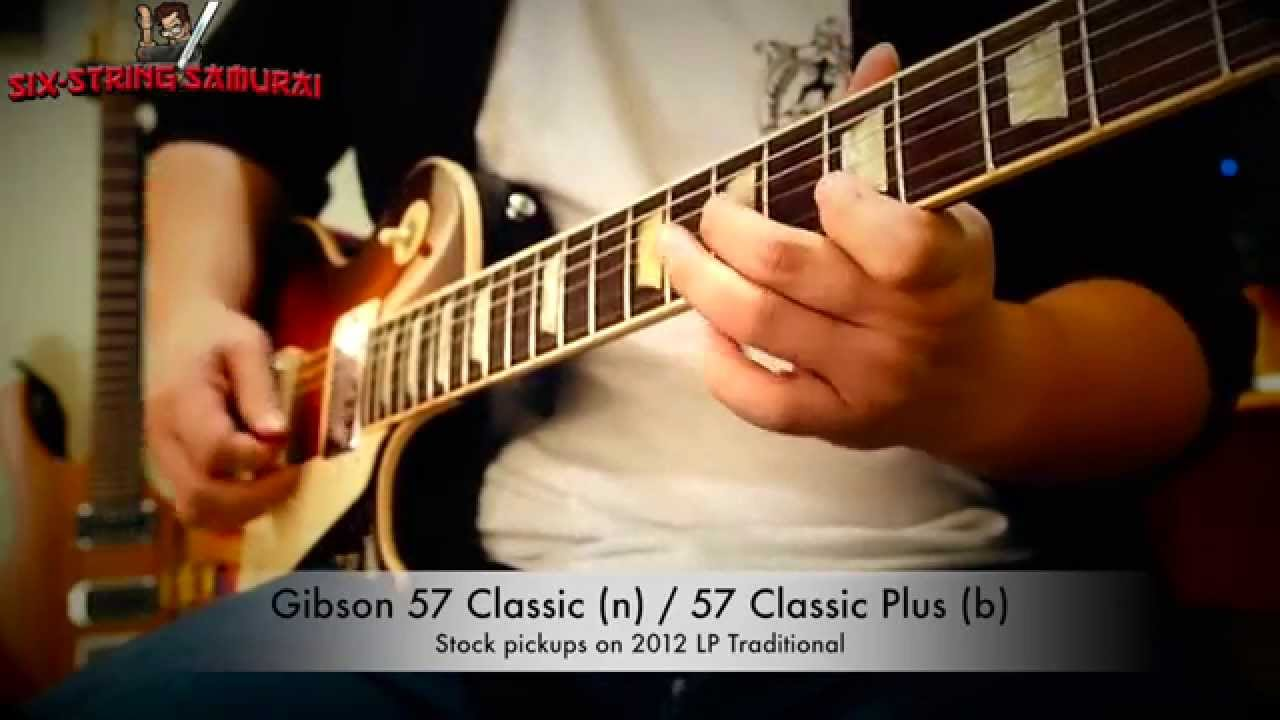 gibson 57 classic classic plus vs seymour duncan slash alnico ii pro set youtube