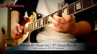 gibson 57 classic classic plus vs seymour duncan slash alnico ii pro set