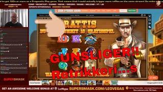 Gunslinger Fully Reloaded Retrigger Action Big Win