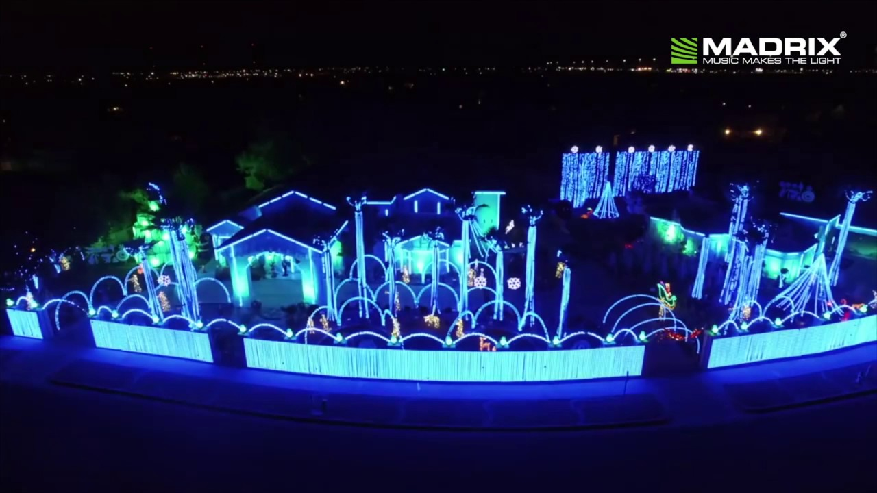 Madrix Ultimate El Paso Christmas Light Show 2016