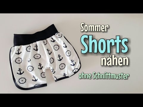 Sommer Shorts - OHNE Schnittmuster nähen - Für Anfänger - Nähtinchen thumbnail
