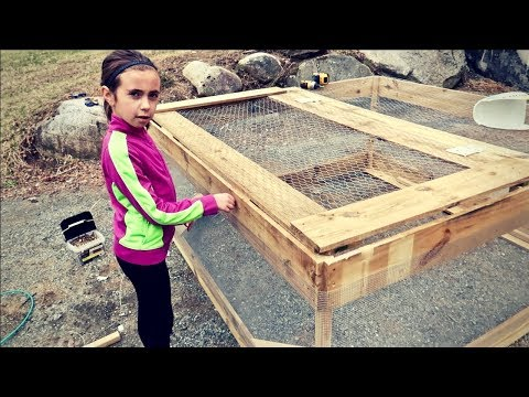 Chicken Tractor Built by a 9 Year Old in 2 1/2 hours
