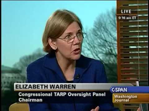 Elizabeth Warren on Financial Transparency and TARP