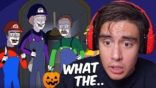 Reacting To Scary Animations Of Messed Up Trick Or Treating Experiences On Halloween