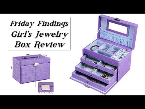 Girl's Purple & Aqua Jewelry Box Review & GIVEAWAY!-Friday Findings