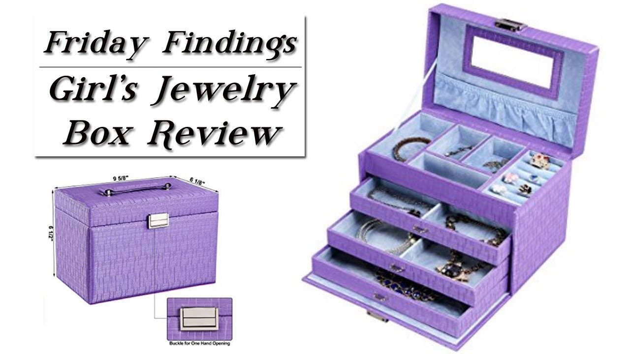 Girls Purple Aqua Jewelry Box Review GIVEAWAYFriday Findings