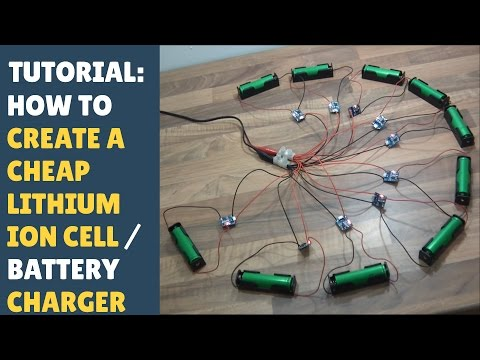 TUTORIAL: How to Create a Cheap Lithium Ion 18650 Cell/Battery Charger! (Using TP4056 Modules)