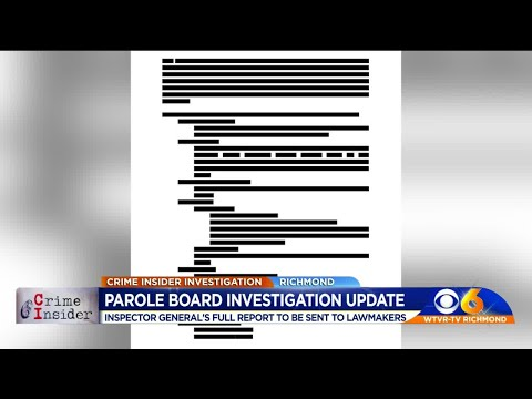 Inspector General's parole board report to be sent to lawmakers