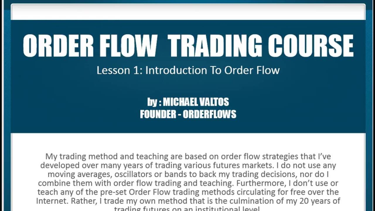 Order flow trading strategy pdf