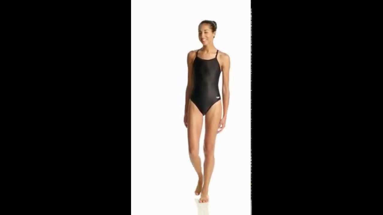 756065f18bd09 Speedo PowerFLEX Eco Solid Flyback Women s Swimsuit