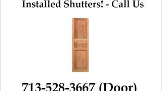 Exterior Window Shutters Wood Installed Houston - Houston Door Solutions - 713-528-3667 (door)