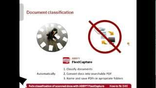 How-to No. 40 — Automated classification of scanned documents with ABBYY FlexiCapture