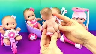Lil Cutesies Baby Dolls Little Tiny Babies Toy Tricycle JC Toys Review Video Fun Factory
