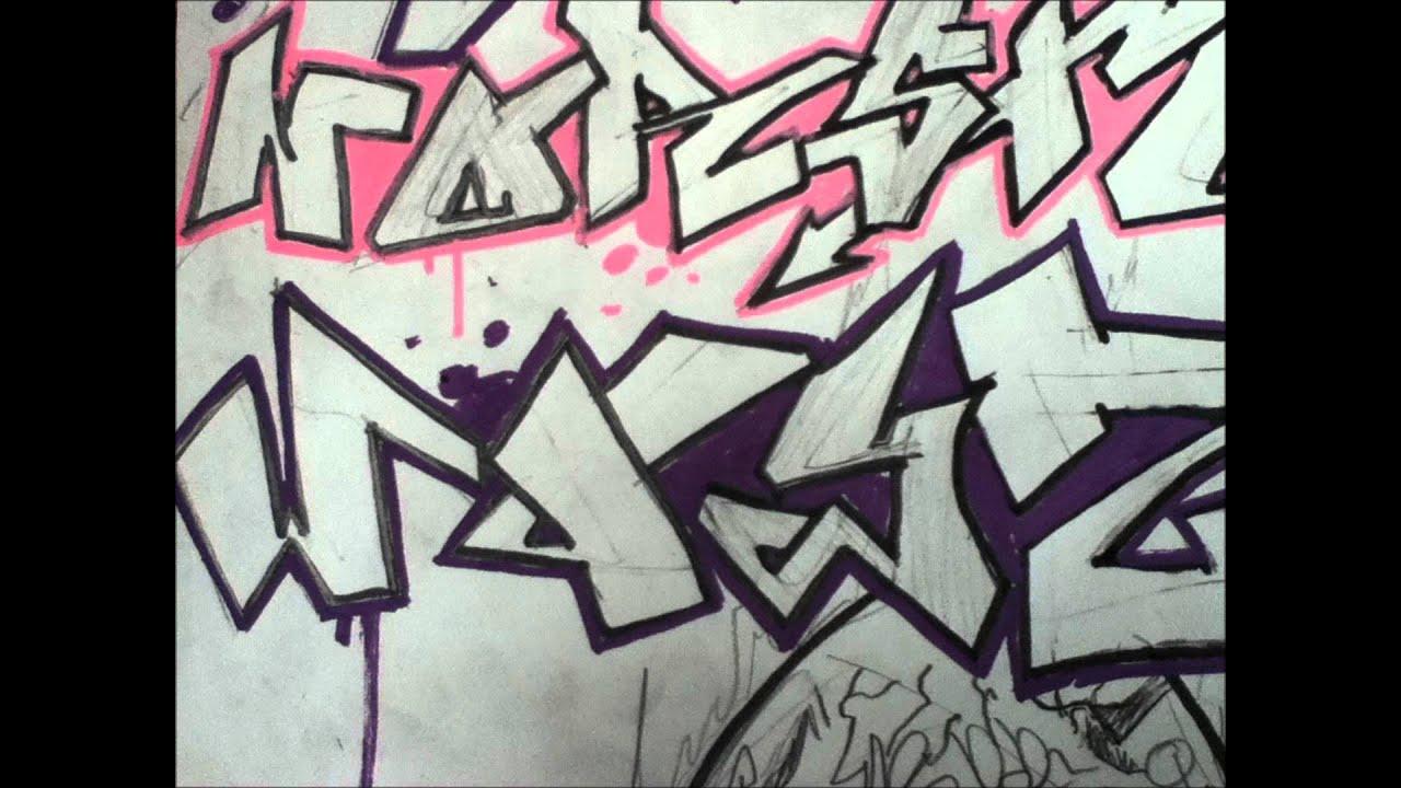 Alphabet graffiti block letters simple youtube - Graffiti simple ...