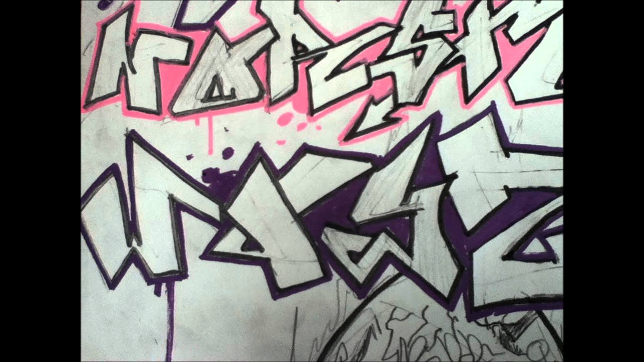 Block Letter Graffiti Alphabet Letters simple