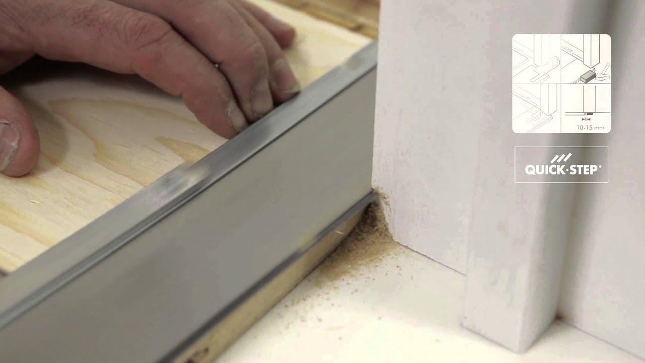Hoe een houten vloer plaatsen een zwevende quick step plaatsing youtube - Pose seuil de porte parquet flottant ...