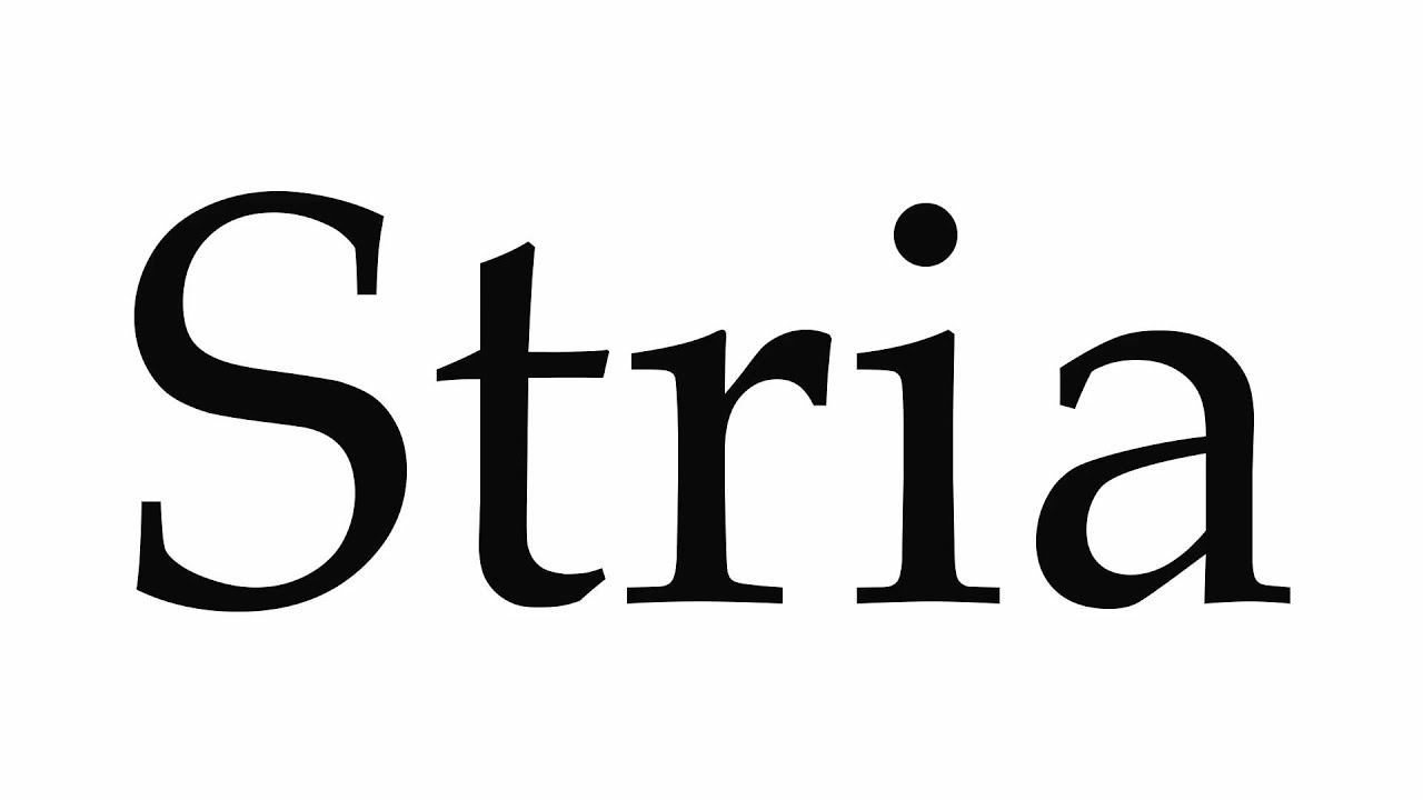 Download How to Pronounce Stria