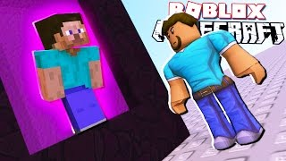 PORTAL TO MINECRAFT IN ROBLOX!?