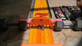 HOT WHEELS DRAG RACING KING OF THE HILL RACE 8/2014