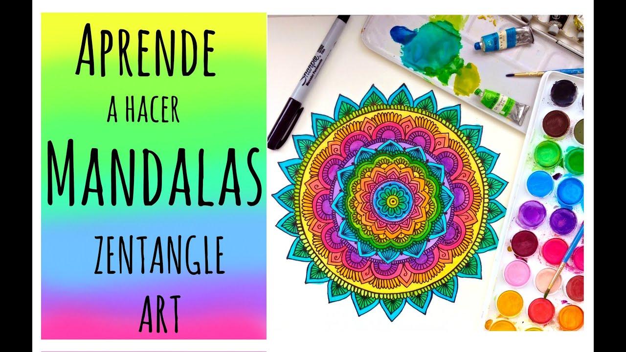 Cmo hacer mandalas Zentangle Art Dani Hoyos Art YouTube