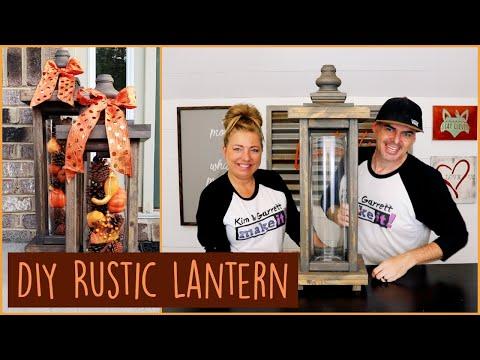 Super Easy $25 DIY Rustic Lantern