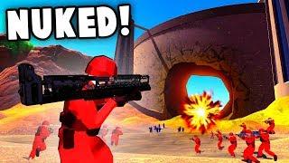 FAT MAN NUKE vs HOOVER DAM! Fallout Weapons Destroy Dam! (Ravenfield Best Mods)