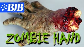 how to make spooky zombie severed hand