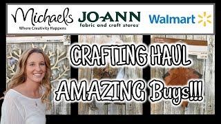 AMAZING Buys Michael's | Joann's | Walmart CRAFTING and DECOR HAUL
