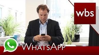 Hat WhatsApp Rechte an allen gesendeten Nachrichten, Bildern und Videos? | Kanzlei WBS